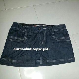Fox Demin Hipster Mini Low Waist Skirt Size 36