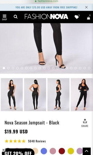 Fashion nova black jumpsuit