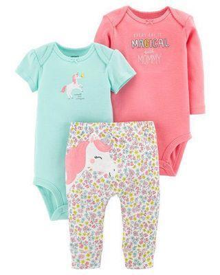 ⚡️PRICE DROP⚡️Carter's Baby Girl 3-Piece Unicorn Set