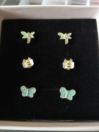 🚚 Insects earrings bees, butterflies and dragonflies