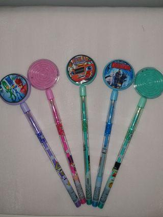 Customised Retractable pencils goodie bag