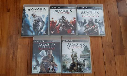 PS3 Assassin's Creed Games