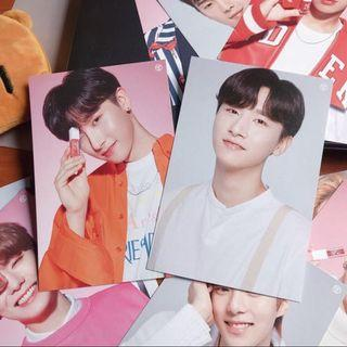 🚚 monsta x tony moly changkyun i.m lip tint postcards exclusive signed