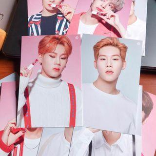 🚚 monsta x tony moly joohoney jooheon set exclusive postcards lip tint signed
