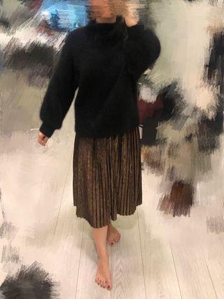 Black Angora oversized sweater