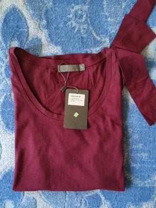 SEED Women Cotton Top (Dark Pink)