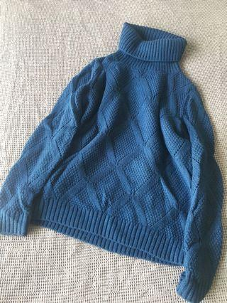 Knit sweater blue
