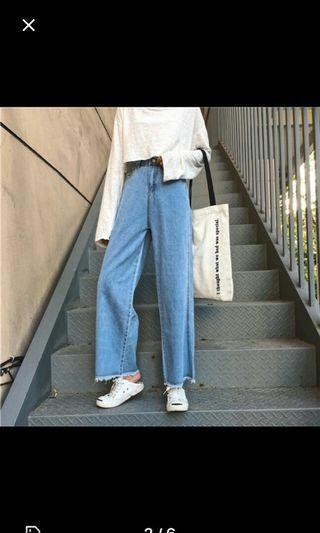 INSTOCK frayed demin culottes