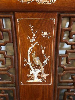 Rosewood Mother of Pearl Antique Living Room Set