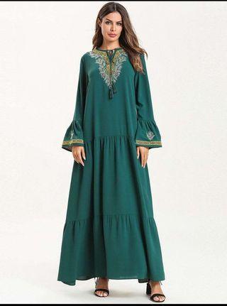 Muslim Turkish Style Flare Dress