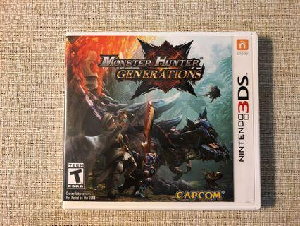 3DS monster hunter generations game 美版遊戲
