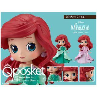 迪士尼 FIGURE 愛麗兒 Q posket Disney Characters -  Princess Dress - Ariel - ✡ 全2種 ✡
