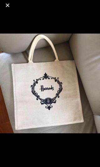 Brand new Harrods shopping bag/ tote bag