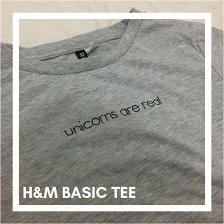 Hnm basic grey tee
