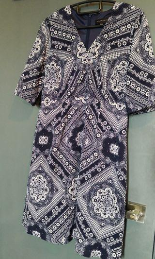 Future State Blue Paisley dress (can be worn office)
