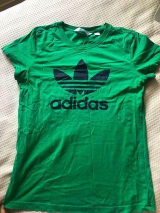 Green Adidas top