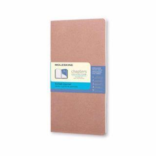 BN Moleskine Chapters Collection - Slim Pocket Dotted Journal Mauve Light Brown Notebook