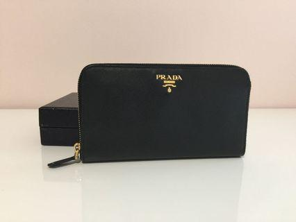 "Prada saffiano Long Wallet ""discounted"""