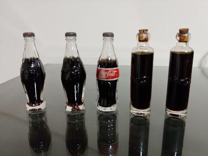 可口可樂懷舊迷你玻璃樽瓶 (每支發售$50) Coca Cola mini bottle