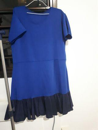 Two tone Mermaid Dress - Plus size from YVS