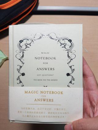 MAGIC NOTEBOOK FOR ANSWERS
