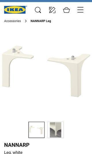 Ikea Nannarp White Leg