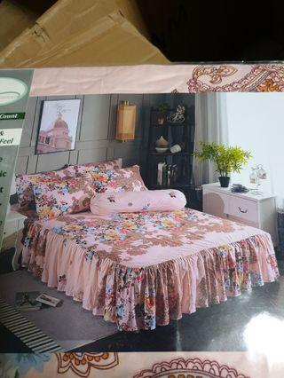 Skiriting bedsheet sets - promo sale