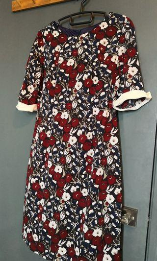 Future State floral Red and blue dress (suitable for office