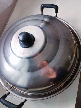 🚚 Oversized wok 40cm + heightening thick lid