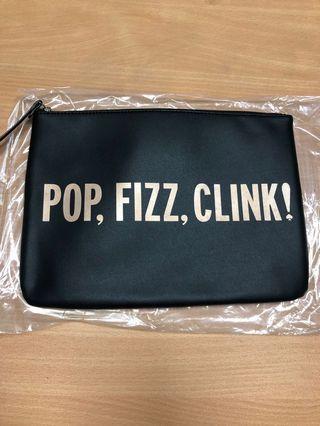 100%new 全新 Kate spade crystal court clutch pop fizz clink