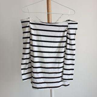 Stripes Off-Shoulder Top