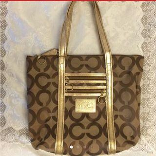 Prelov Coach Tote Bag. V good condition inside n out. Never used, been kept in the wardrobe. Light n spacious , great for A4 files