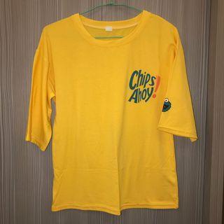 🚚 芝麻街Cookie黃色五分袖上衣