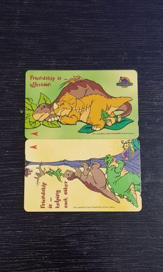 Vintage Land before time phone cards