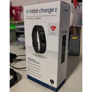 Fitbit Charge 2 HR+ Gunmetal Series L with Box and Complete Accessories AND More!