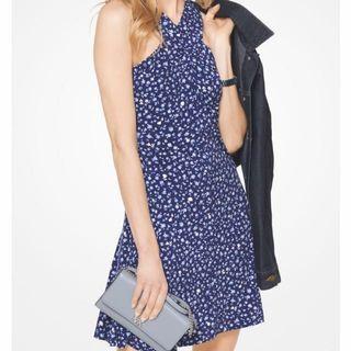 MICHAEL KORS Cross-Neck Jersey Dress洋裝 尺寸XXS