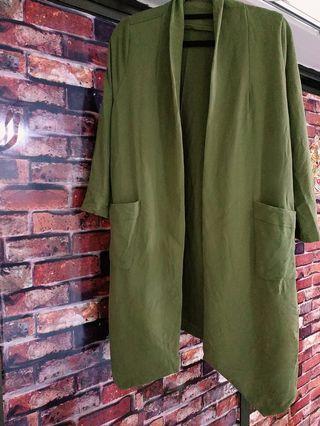 💕型款軍綠長身外套💕