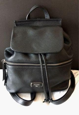 Picard Black Leather Backpack