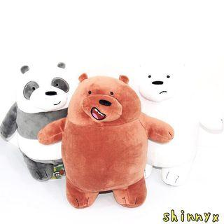 28.5CM AUTHENTIC CARTOON NETWORK WE BARE BEARS STANDING SOFT TOY 💕