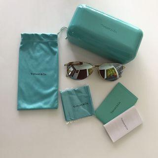 Tiffany & Co Sunglasses In Champagne Gold Colour Frame