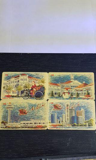 Vintage christmas phone cards