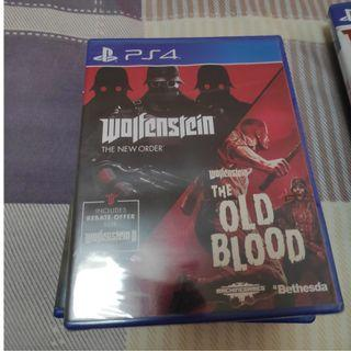 PS4 Wolfenstein The New Order + The Old Blood $35