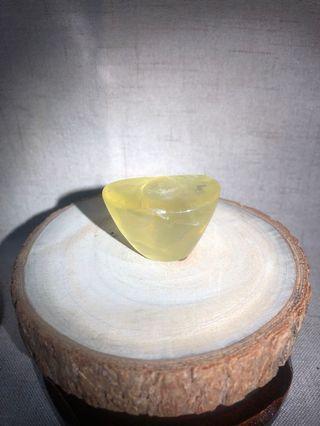 天然水晶 黃晶元寶