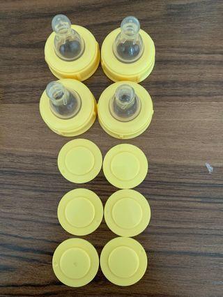 Medela bottle caps and cover
