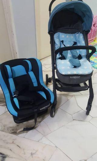 Combo Set Stroller and Baby Carseat