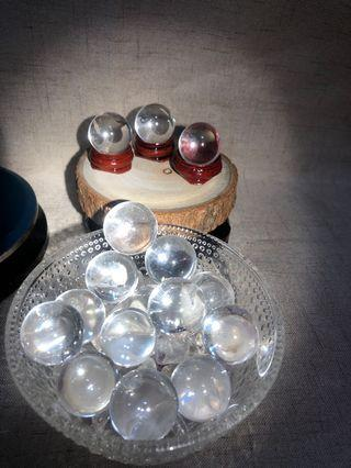 天然水晶 白水晶球