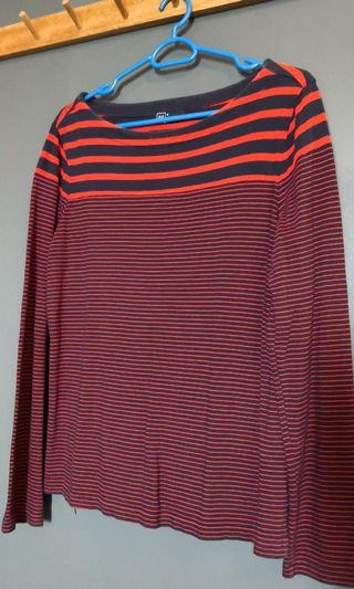 GAP long sleeves striped shirt