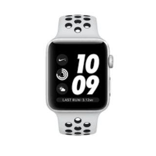 Apple Watch Series 3 Nike+ 42mm Silver Aluminum Case with Nike Sport Band (Platinum/Black)