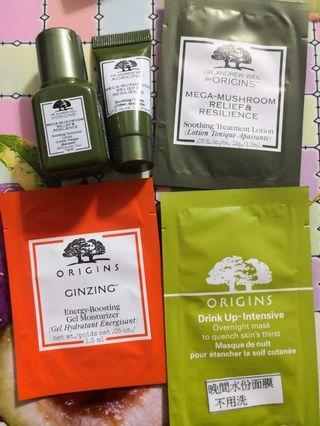 Origins mega-mushoom relief & resilience Samples mask gel moisturizer