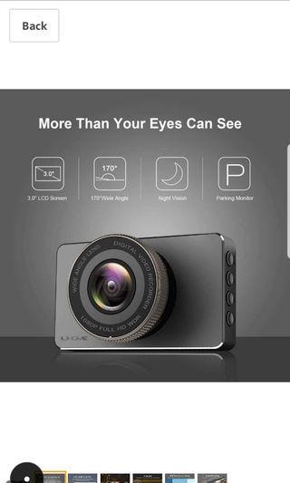 ilihome Car Dash Camera